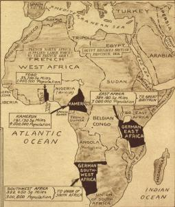 Map of Africa during WWI.